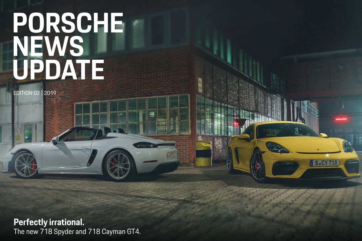 Porsche news update - Edition 2 2019